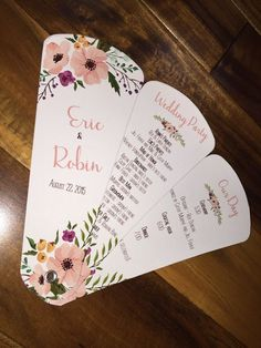 Rustic Collapsable               Wedding Ceremony Program