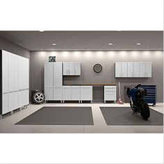 The Ulti-MATE PRO 12 pc. Garage Storage System is a ideal way to organize your garage for working on everything from hot rods to hogs to home projects. Garage Cabinet Systems, Garage Storage Cabinets, Garage Storage Solutions, Garage Organization, Organized Garage, Shop Cabinets, Garage Shelving, Base Cabinets, Wood Shelves