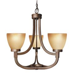 Woodbridge Lighting Wayman 3-light Bronze Chandelier