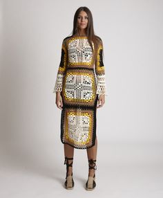 Mode Crochet, Crochet Wool, Boho Outfits, Pretty Outfits, Fashion Outfits, Crochet Fashion, Crochet Designs, Crochet Clothes, Fashion 2020