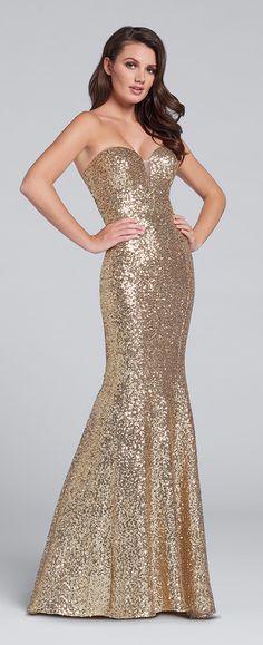 24114571728 Prom Dresses 2017 - Ellie Wilde for Mon Cheri - Strapless Sequin Prom Dress  - Style
