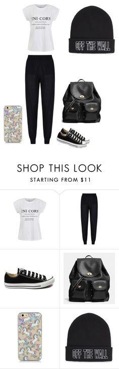 """""""Unicorns are baes """" by iyana-xx ❤ liked on Polyvore featuring Ally Fashion, STELLA McCARTNEY, Converse, Coach, Vans, women's clothing, women, female, woman and misses"""
