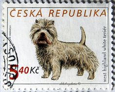 Ceska.  DOGS. WEST HIGHLAND WHITE TERRIER.  Scott 3150a A1197, Issued 2001 June 20, Photo & Enge., Perf. 11 1/2 x 11 1/4, 5.40. /ldb.