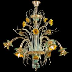 #Girasole #chandelier by #MULTIFORME. A lighting work characterized by spontaneity and originality.