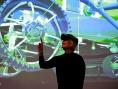 Representatives of NASA's Jet Propulsion Lab demonstrated the capability of Microsoft's HoloLens headset for space exploration and research at New York University Nov. 7.