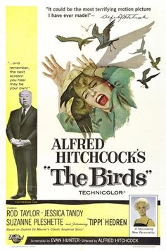 "Alfred Hitchcock's ""The Birds"" movie poster (1963)"