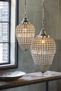 Hanglamp Charlene Druppel Nikkel Kristal 25 cm Light & Living