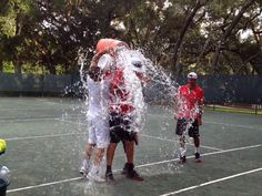 #fbf Week 2 of ladies retreats 2013, winning captain Scott Colebourne practically took the #ALSIceBucketChallenge! Have you signed up for all the fun? Please join us at Amelia Island for the #bestweekintennis October 15-19! #tennis #flashbackfriday #USOpen #Summer #Fun
