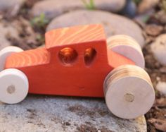 Brown Wood Car by CreatedbyBabs on Etsy