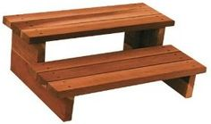 diy wood spa steps - Google Search