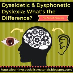 Come learn about the difference between dysphonetic and dyseidetic dyslexia as well as strategies for success!
