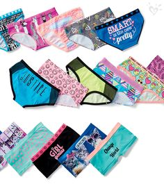 Our new collection of panties come in comfy fits—bikini, boyshort & shortie—and fun prints!
