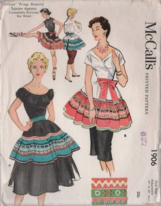McCall's 1906  Seminole trimmed Aprons