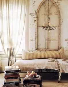 Love the shape of this old window frame..