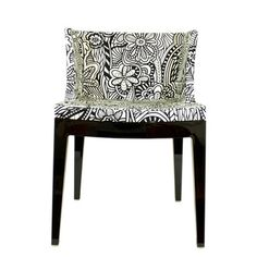 Phillipe Starck Mademoiselle chair with tangled Missoni Grafitti fabric - also a contender for the head of the table. Black And White Fabric, Black White, Love Chair, Italian Furniture, Take A Seat, Cool Chairs, Dream Decor, Room Inspiration, Cool Furniture