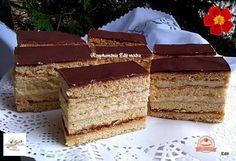 Töltött mézes krémes Krispie Treats, Rice Krispies, Vanilla Cake, Tiramisu, Baking, Ethnic Recipes, Food, Cakes, Sweet Recipes