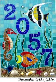 seascapes in stained glass Mosaic Flower Pots, Mosaic Pots, Mosaic Wall Art, Mosaic Glass, Mosaic Tiles, Stained Glass Designs, Mosaic Designs, Mosaic Patterns, Mosaic Crafts