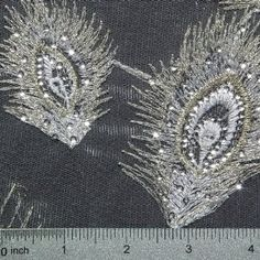 Peacock lace fabric | Peacock Sequins Embroidery White Peacock Peacock Fabric, Peacock Theme, Lace Fabric, White Embroidery, Beaded Embroidery, Fabric Stiffener, White Peacock, Point Lace, Lace Making