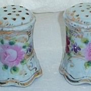 Handpainted Salt & Pepper Shaker with Floral Decoration