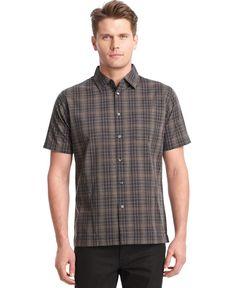 Van Heusen Big and Tall Short-Sleeve Plaid Shirt
