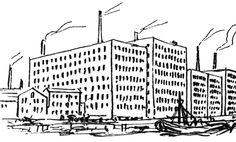 4. Schinkel's sketch of mills in Ancoats, 1826.