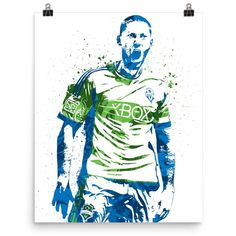 Clint Dempsey Seattle Sounders USA Soccer Poster