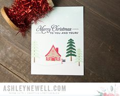 Winter Christmas Card by Ashley Cannon Newell for Papertrey Ink (November 2015)