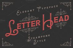 Letterhead typeface with ornate by Gleb Guralnyk on @creativemarket. Price $15