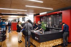 Work Cafe, Coffee Shop Interior Design, Liquor Cabinet, Storage, Furniture, Twitter, Home Decor, Doors, Printing Press