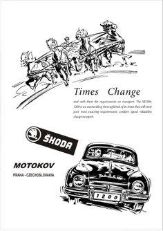 Skoda 1200 Motor Car Autocar Advert 1954