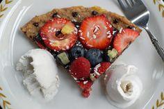 Banana Split Dessert Pizza -Vegan and Gluten Free