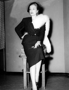 Marlene Dietrich in England, 1949.