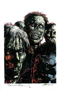 Wrightson Zombies - Color, in Ed Eargle's Artwork I Own Comic Art Gallery Room Zombie Walk, Zombie Girl, Crane, Zombie Vampire, Bernie Wrightson, Evil Dead, Zombie Attack, Walking Dead Zombies, Zombieland