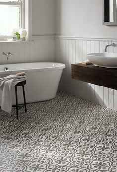 Bathroom Floor Tiles at Topps Tiles. Loft Bathroom, Bathroom Renos, Budget Bathroom, Bathroom Ideas, Modern Bathroom, Bathroom Designs, Bathroom Remodeling, Bathroom Radiators, Bathroom Bin