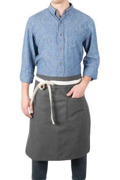 Adjustable Adult Stripe Bib Apron With 2 Pockets Chef Waiter Kitchen Cook Glitzy
