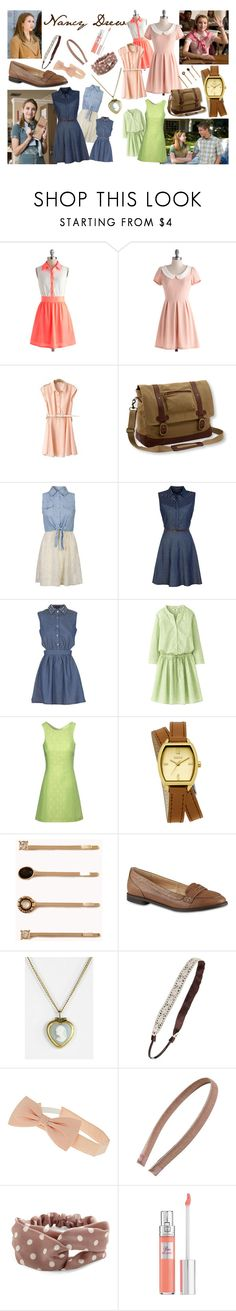"""""""Nancy Drew #1, #2, & #3 (Nancy Drew Movie)"""" by wilsonsisterto7 ❤ liked on Polyvore featuring Influence, Mela Loves London, Uniqlo, Jane Norman, Oasis, Forever 21, Call it SPRING, Dorothy Perkins, Tasha and Lancôme"""