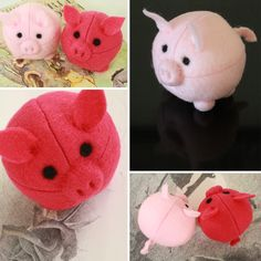 Cutest felt pigs I've ever seen.