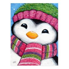 Cute Animal Illustration Gifts and Products UK illustrator, Lisa Marie Robinson. LisaMarieArt is dedicated solely to Lisa Marie's hand painted illustrations. Easy Canvas Painting, Winter Painting, Winter Art, Painting For Kids, Christmas Paintings On Canvas, Christmas Canvas, Christmas Art, Penguin Drawing, Penguin Art