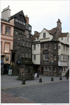 John Knox House.  High Street.  Old Town. Edinburgh. Just around the corner from me.