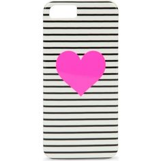 Striped heart iPhone 5 case ($30) ❤ liked on Polyvore featuring accessories, tech accessories and bando