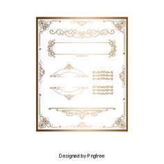 European gold border pattern Gratis PNG y Clipart Wedding Card Format, Wedding Invitation Format, Wedding Card Design, Wedding Invitations, Black Background Images, Geometric Background, Background Patterns, Border Pattern, Gold Pattern