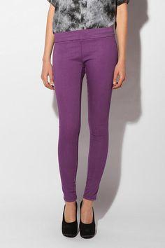 Cute Leggings to wear down to Mardi Gras! Cute Leggings, Denim Leggings, Pink Leggings, Skinny Legs, Skinny Fit, Mardi Gras, Purple Pants, Super Skinny, Urban Outfitters