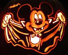 9 free printable pumpkin stencils for a guaranteed for Mickey mouse vampire pumpkin template
