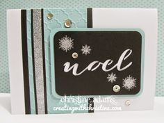 Noel card with CTMH Artfully Sent Cricut cartridge from Creating with Christine