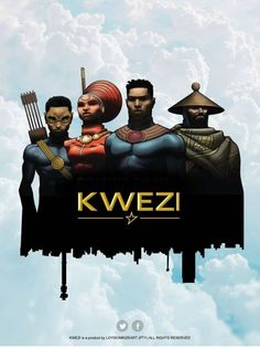 The African superhero universe continues to widen with Loyiso Mkize's South African teen superhero comic series, 'Kwezi. Black Characters, Comic Book Characters, Comic Books, Black Comics, Comic Book Superheroes, Black Cartoon, African Artists, Black Artwork, Black Families
