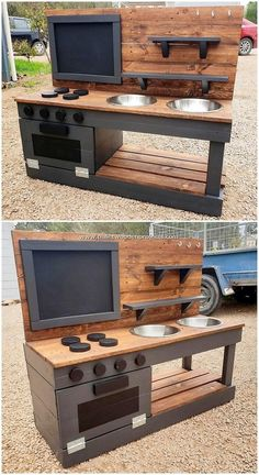 35 Sumptuous DIY Creations Made with Pallets – – … 35 üppige DIY-Kreationen aus Paletten – – Pallet Kids, Wooden Pallet Projects, Wooden Pallets, Diy Projects, Pallet Wood, Outdoor Pallet, Pallet Patio, Pallet Bar, Recycled Pallets