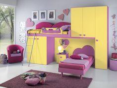 Camera con soppalco PATRIZIA #camerette #furnishing #bedrooms #design