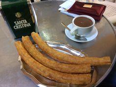 Churros e Chocolate de chez Casa Aranda à Malaga, Espagne