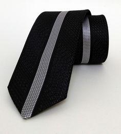 Grey and Black Dotted Mens Tie 6 cm (2,36 #handmadeatamazon #nazodesign