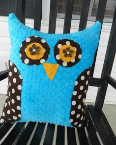 Owl Pillows!! Cost $15.00 shipping Comes in different colors  #interiordecorating #pillows #throwpillows #throwpillowsgalore #sew #sewing #turquoise #polkadots #polkadot #owlpillow #owl #fabric #findusonfacebook #onlineshop #onlineshopping #interiordecor #barncreations #wahm #smallbusiness #smallbusinessowner #livingroomdecor #gift #giftideas #shopsmall #minky #minkyfabric by barncreationsn
